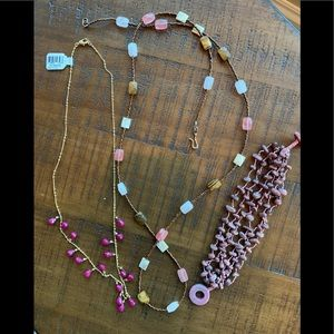 Jewelry - Bundle of four necklaces and one bracelet.